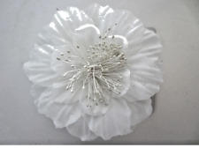 Ladies large cream flower on double hair comb Wedding Prom Bride Bridesmaid