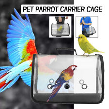 Pet Parrot Backpack Bird Carrier Travel Outerdoor Bird Transport Cage Breathable