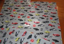 vintage cars vehicles thick Cotton fabric material 3 pieces approx 71x135cm
