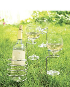 Pampered Chef Outdoor Party Sticks Wine Holder Drink Holder Picnic Yard