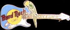 Hard Rock Cafe Key West 1998 Parrot on Lite Blue Fender Guitar Pin - Hrc #3857