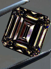 Emerald Moissanite Diamond For Ring 5.44ct Vvs1/9.14Mm White Brown Color Loose