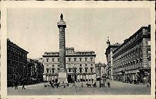 Roma Rom Italien Ansichtskarte ~1930 Piazza Colonna Platz mit Marc Aurel Säule