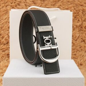 Dior Double SidedLychee Pattern Cowhide Belt 38mm