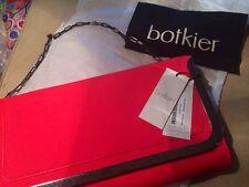 SALE! Botiker Clutch Bag Misha New Brilliant Hot Red Cowhide Factory Packaging