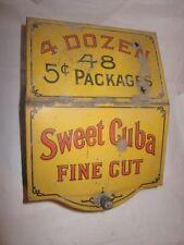 "Vintage Sweet Cuba Fine Cut Cigar Tin 5 Cent ""The Kind that Suits"" Chicago, IL"