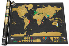 World Original Scratch Map Deluxe Large Edition 825 X 594mm