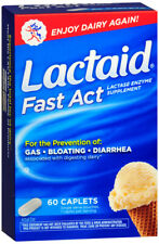 Lactaid Fast Act Lactose Intolerance Relief Caplets with Lactase Enzyme 60 Count