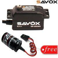 Savox SAVSB2263MG-BE Black Edition Brushless Digital Servo w/ Glitch Buster