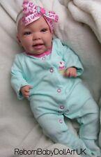 Happy Smiling Reborn Baby Girl Doll - by RebornBabyDollArt UK