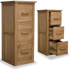 arden solid oak office furniture large three drawer lockable filing cabinet