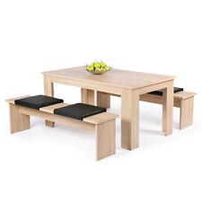 Tischgruppe Corporal in Sonoma Eiche Dekor mit Tisch 140x80 cm und 2 Bänken