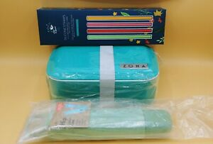 Zona Bento Box Hip Cutlery Case Stojo Cup Chic & Tonic Silicone Straws Lunch Set