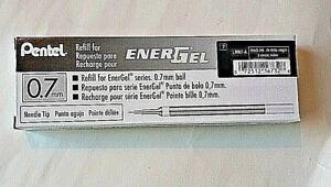 Refill Ink for EnerGel 0.7mm Needle Tip Liquid Gel Pen Pack of 12 Black