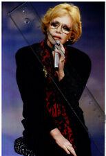 Foto deutsche Schauspielerin HILDEGARD KNEF - Farbe Pressefoto Aufnahme von 1987