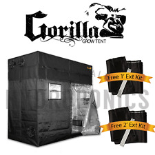"Gorilla Grow Tent 4' x 8' x 6'11"" Grow Tent w/ *Free 1' & 2' Ext Kits!*"