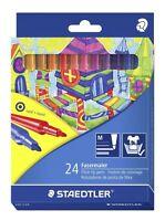 24 Staedtler Noris Club Fibre Tip Pens Adult Colouring 325 C 24