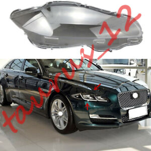 Right Side Transparent Headlight Cover + Glue Replace For Jaguar XJ 2010-2019-J