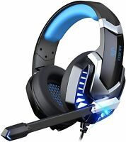Gaming Headset for PC, Over Ear Headphones with Noise Canceling Mic, PS4 Headset