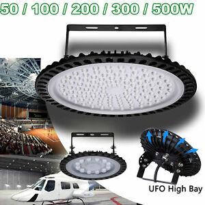 UFO LED High Bay Light 50W 100W 200W 300W 500W Workshop Garage Lights Industrial