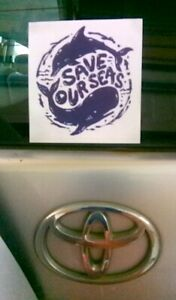 Save Our Seas waterproof sticker
