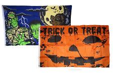 3x5 Happy Halloween 2 Pack Flag Wholesale Set Combo #3 3'x5' Banner Grommets