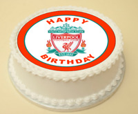 LIVERPOOL BIRTHDAY EDIBLE CAKE & CUPCAKE TOPPER/DECORATION WAFER PAPER/ICING