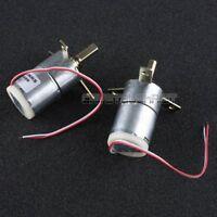 2pcs DC 12V 25 RPM High Torque Gear-Box Stabilivolt Electric Motor Replacement