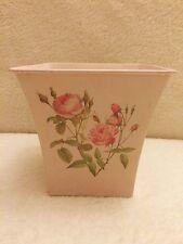 Small Decorative Shabby Chic Roses Plant Pot