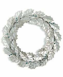 Silver Iron Wreath Blueberry Holy Leaf by Holiday Lane Christmas Decor