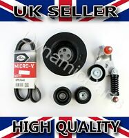 JAGUAR X-TYPE 2.0 2.2 D DIESEL FAN BELT CRANKSHAFT PULLEY TENSIONER KIT