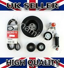 FORD MONDEO MK3 2.0 2.2 DI TDDI TDCI FAN BELT CRANKSHAFT PULLEY TENSIONER KIT