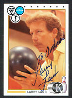 Larry Laub #52 signed autograph auto 1990 Kingpins PBA Bowling Trading Card