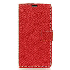 Luxury Magnetic Weave Pattern PU Leather Wallet Case Cover For Google Wiko Alcat