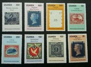 [SJ] Uganda 150th Anniversary Of Penny Black 1990 Historic Postal (stamp) MNH