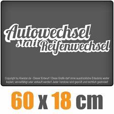 Autowechsel statt Reifenwechsel  chf0115 weiß 60 x 18 cm Heckscheibenaufkleber