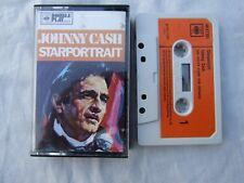 CASSETTE JOHNNY CASH STARPORTRAIT cbs paper labels
