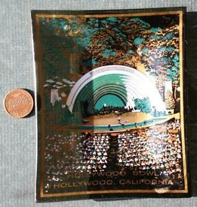 1970s California Hollywood Bowl Concert Band shell stadium smoked glass ashtray!
