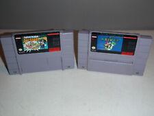 Super Mario World & Super Mario All-Stars SNES Game Lot Super Nintendo Games