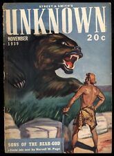 Unknown V2#3 Sci-Fi Pulp Raymond Chandler The Bronze Door H.L. Gold Nor Page VG-