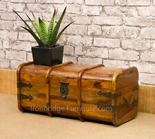 Solid Wood Indian Sheesham Jali Mariners Chest Storage Trunk Blanket Box Size 1