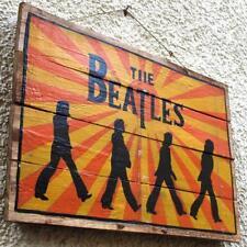 THE BEATLES Abbey Road Holzschild HANDBEMALT London Musik John Paul George Ringo