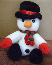 "1998 Sears Christmas Beanbag Plush Snowman HOHO BEANS 7"" Tall Scarce"