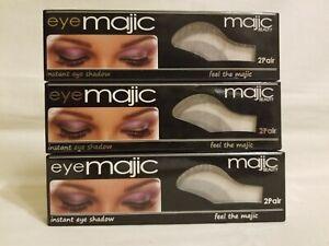3 Boxes 6PR - Eye Majic Instant Eye Shadow Shade 1 Majic Beauty GRAY SILVER