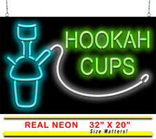 "Hookah Cups Neon Sign | Jantec | 32"" x 20"" 