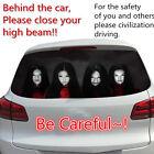 Window Car Body Decal Sticker Female Ghost Zombie Horror Prevent 1 pcs high beam