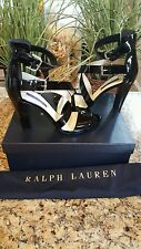 Ralph Lauren Women's Collection Kairo Sandal Size 37 B Italy Patent Leather $650