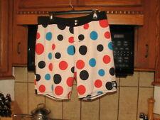 Quiksilver surf board shorts 34 waist vintage reproduction 1980's Polka Dots