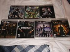 PLAYSTATION 3 GAME LOT 7 GAMES NEW WALKING DEAD, CALL OF DUTY, SAINTS ROW, MORE