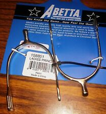 New Abetta Ladies English Spurs Prince of Wales Stainless Steel Horse Tack